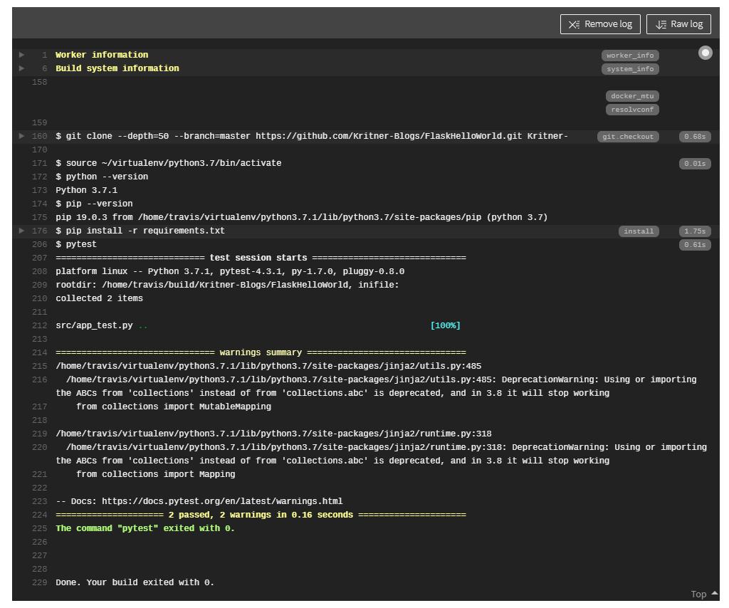 Python Flask with Heroku and TravisCI   Kritner's Blog